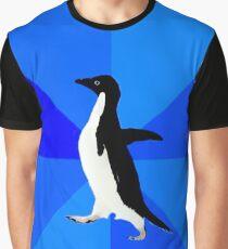 Socially Awkward Penguin MEME Graphic T-Shirt