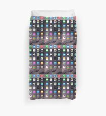 iPhone Homescreen Duvet Cover
