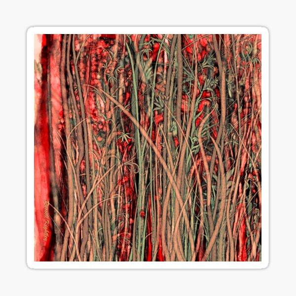 Qualia's Grass (Antique Red) Sticker