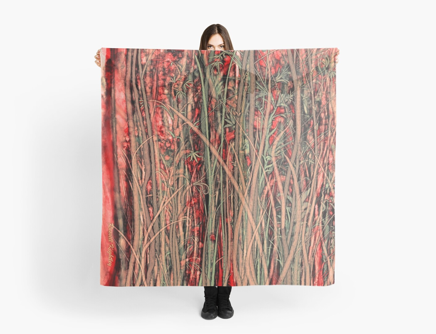 Qualia's Grass (Antique Red) by Russell Kightley