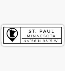 Saint Paul Minnesota Sticker