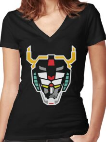 Voltron (Flat) Women's Fitted V-Neck T-Shirt