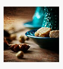 Food Background with Anise Star Close up  Photographic Print