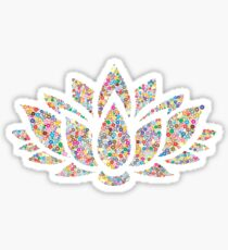 Multicolored Lotus Sticker