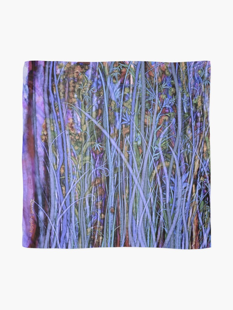 Alternate view of Qualia's Grass (Dreamy Blue) Scarf