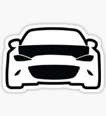 Mazda ND Miata / MX5 Shadow Outline Sticker +  Phone Case Sticker