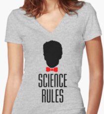 BILL NYE Women's Fitted V-Neck T-Shirt