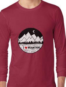 I Heart Mountains Long Sleeve T-Shirt