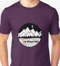 I Heart Mountains Unisex T-Shirt