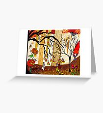 Halloween Forest Greeting Card