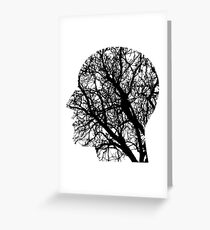 Human Nervous System As Tree Greeting Card