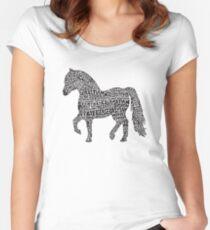 Bye Bye Lil Sebastian Calligram // Parks & Recreation Women's Fitted Scoop T-Shirt