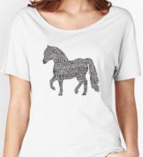 Bye Bye Lil Sebastian Calligram // Parks & Recreation Women's Relaxed Fit T-Shirt