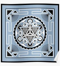 SACRED GEOMETRY - METATRONS CUBE - MERKABA - FLOWER OF LIFE - SPIRITUALITY Poster