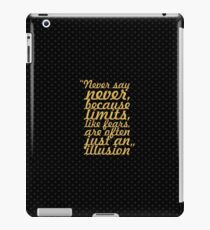 "Never say never... ""Michael Jordan"" Inspirational Quote iPad Case/Skin"