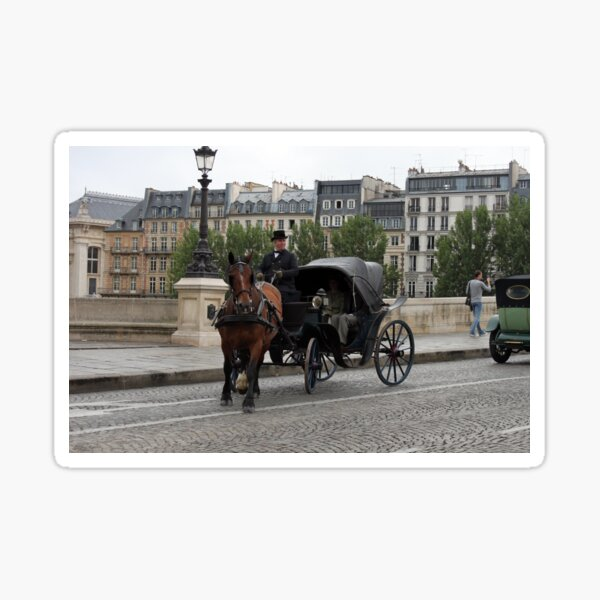 Paris in retro style Sticker