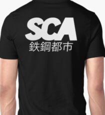 OFFICIAL SCA - ALL WHITE W/JAPANESE TYPE DESIGN Unisex T-Shirt