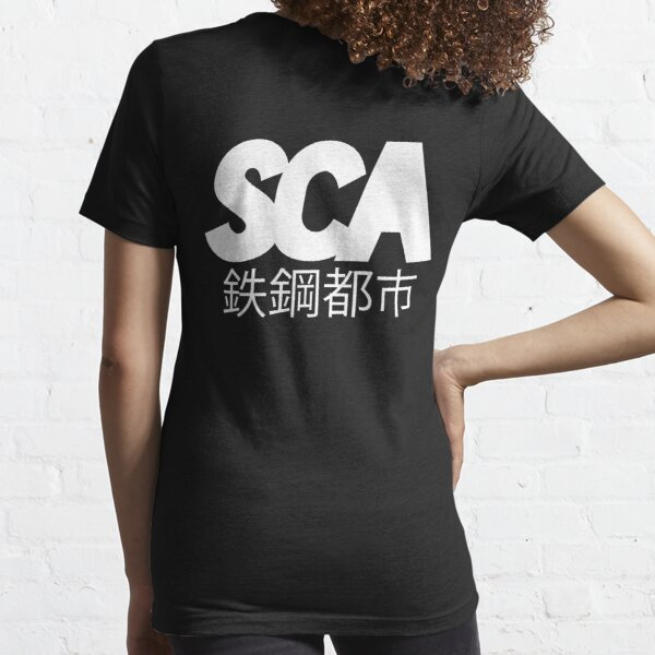 OFFICIAL SCA - ALL WHITE W/JAPANESE TYPE DESIGN Essential T-Shirt