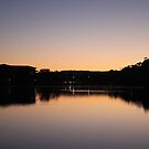 Narrabeen Lakes at night by Jane Wilkinson-Franssen