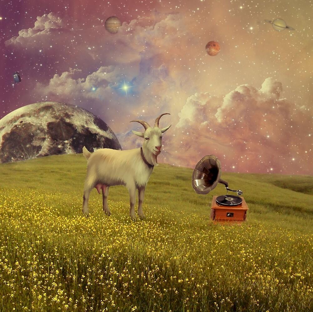 Transdimensional Space Goat by jolenecasko