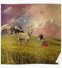 Transdimensional Space Goat Poster