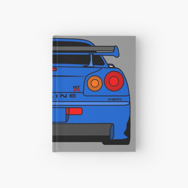 R34 Rear  Hardcover Journal