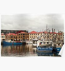 A Winter Waterfront Scene Poster