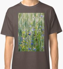 Cornflowers in a wheat field Classic T-Shirt