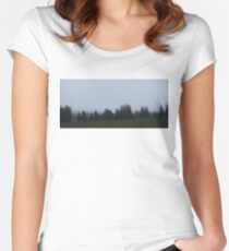 foggy drive. Women's Fitted Scoop T-Shirt