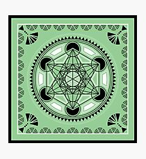 SACRED GEOMETRY - METATRONS CUBE - FLOWER OF LIFE - SPIRITUALITY Photographic Print