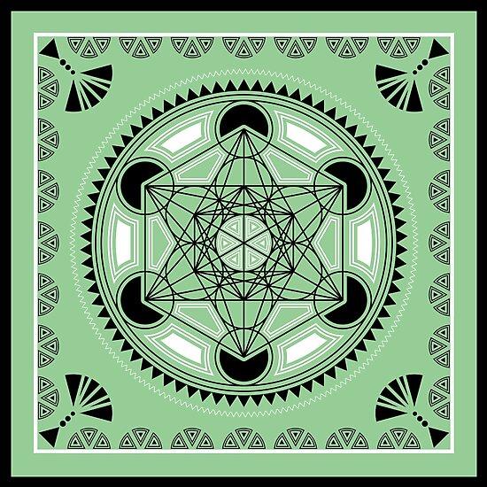 SACRED GEOMETRY - METATRONS CUBE - FLOWER OF LIFE - SPIRITUALITY by Anne Mathiasz