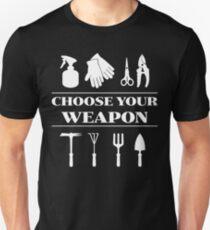 Choose Your Garden Tools T Shirt - Funny Gardening Weapon T-Shirt