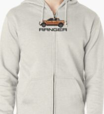 Ford Ranger and Logo Zipped Hoodie