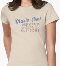 Mario Brothers Plumbing Service Women's Fitted T-Shirt