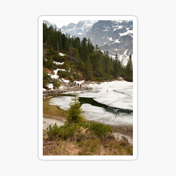 Tourists trek around Morskie Oko Lake Sticker