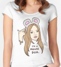 Mouse Doh Women's Fitted Scoop T-Shirt