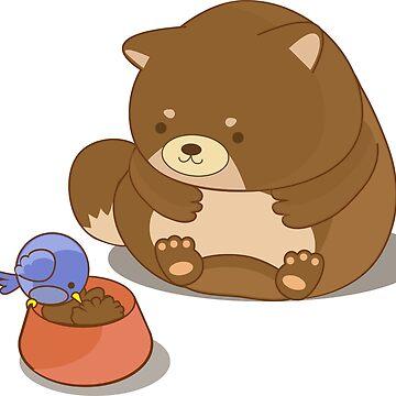 Fat Shiba inu by centtaro