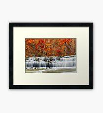 Autumn at Upper Cataract Falls Framed Print