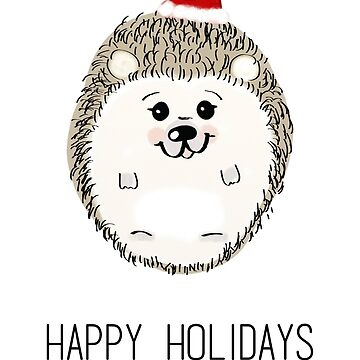Santa Joey - Hedgehog Happy Holidays by cyndyejanda