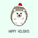 Santa Joey - Hedgehog Happy Holidays by Cyndiee Ejanda