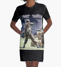 World War 2 Battle Reenactment Graphic T-Shirt Dress