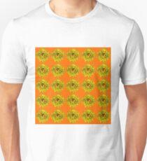 Yellow Flowers on Orange Background T-Shirt