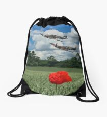 Spitfire and Hurricane Low Pass Drawstring Bag