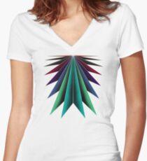 Colour burst apparel Women's Fitted V-Neck T-Shirt