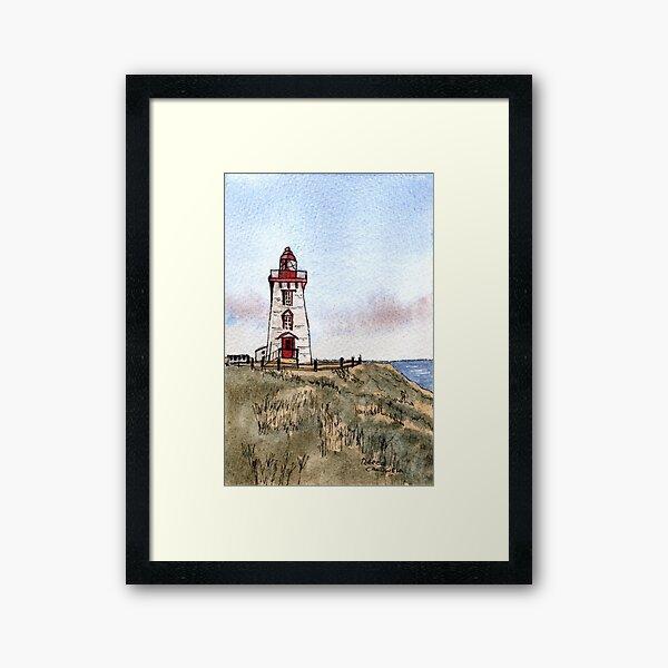 Souris East Lighthouse Framed Art Print