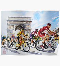 Froome in Yellow TDf 2016 Stage 21 Poster
