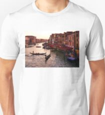 Impressions Of Venice - Warm Dusk and Gondolas on the Grand Canal  Unisex T-Shirt