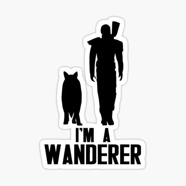 I'm A Wanderer (Black) Sticker