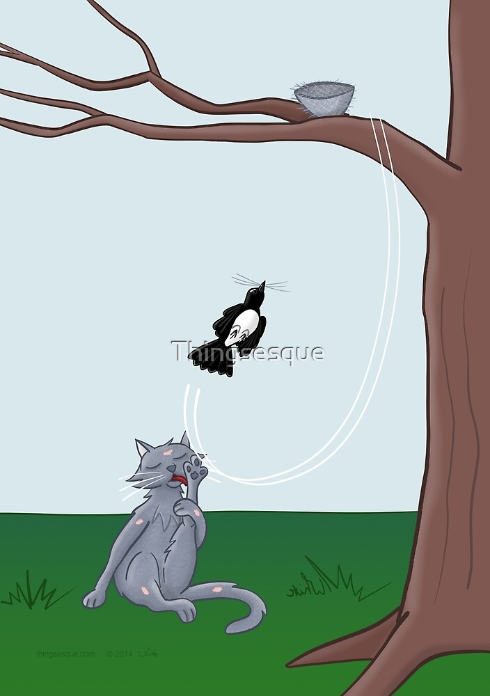 Cat Attack by Thingsesque