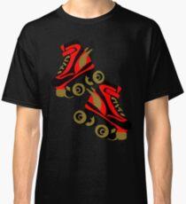 Cool golden roller skates Roller Derby Classic T-Shirt